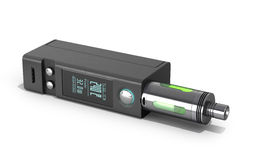 Electronic cigaretts Device box mod to smokeless smoking 3d rend. Er on white Stock Photos