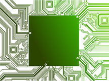 Electronic Circuit in. Isolated electronic circuit in Stock Images