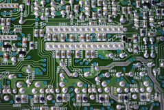 Electronic circuit. This is a close up of an electronic circuit board Stock Photos