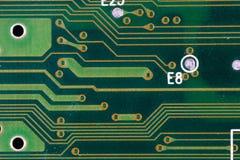 Electronic circuit. Macro detail on electronic circuit Stock Images