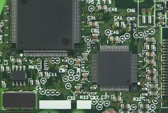 Electronic Circuit. Close-up from top view Stock Image