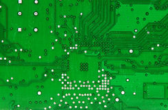 Electronic circuit. Detail of rear Royalty Free Stock Image