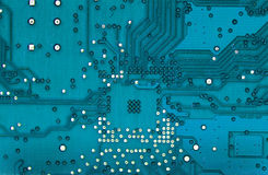 Electronic circuit. Detail of rear Stock Image