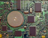 Electronic Circuit. The circuit board of a hard drive Stock Images