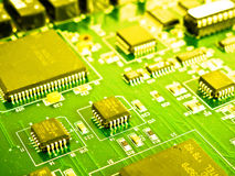 Electronic circuit. Inside of a computer royalty free stock images