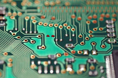 Electronic Circuit. A macro shot of an electronic circuit Stock Photography