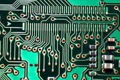 Electronic Circuit. A macro shot of an electronic circuit royalty free stock photography