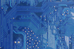 Electronic circuit board. A close up view of an electronic circuit board Stock Photo