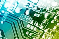 Electronic circuit board. Stock Images
