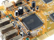 Electronic circuit board. View of an electronic circuit Stock Photo