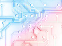 Electronic Circuit Board. With a little burn Royalty Free Stock Photos