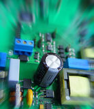 Electronic circuit board. With components royalty free stock photos