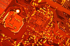 Electronic circuit board. Close up Stock Images