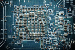 Electronic circuit board. Electronic circuit board as an abstract background pattern Stock Photo