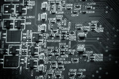 Electronic circuit board. Electronic circuit board as an abstract background pattern Stock Photography