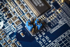 Electronic circuit board . Stock Image