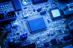 Electronic circuit board. Royalty Free Stock Photos
