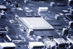 Electronic Circuit Board Close Up. Stock Images