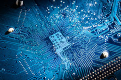 Electronic Circuit Board Close Up Stock Photo