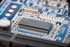 Electronic Circuit Board Close Up Royalty Free Stock Images