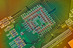Electronic circuit board close up. Background can use the Internet, print advertising and design Stock Images