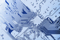 Electronic circuit board close up. Royalty Free Stock Photo