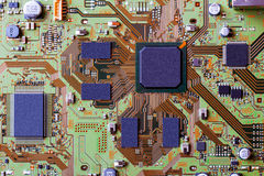 Electronic circuit board close up. Stock Photography