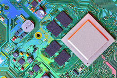 Electronic circuit board close up. Stock Image