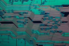 Electronic circuit board close up background texture stock photos