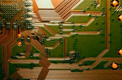 Electronic circuit board close up background texture royalty free stock photography