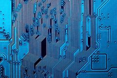Electronic circuit board close up background texture royalty free stock photo