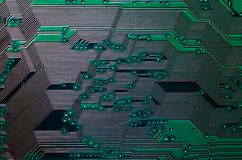 Electronic circuit board close up background texture royalty free stock image