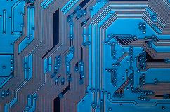 Electronic circuit board close up background texture stock images