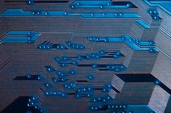 Electronic circuit board close up background texture stock image