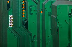 Electronic circuit board close up background texture.  royalty free stock photo