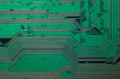 Electronic circuit board close up background texture.  stock photo