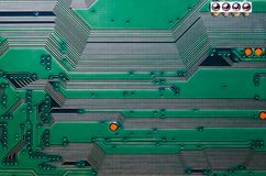 Electronic circuit board close up background texture.  royalty free stock photos
