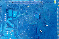 Electronic circuit board close up Royalty Free Stock Photos