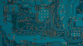 Electronic circuit board close up Stock Photos