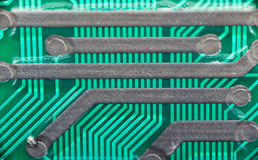Electronic circuit board. Royalty Free Stock Image