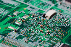 Electronic circuit board Royalty Free Stock Photo