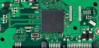 Electronic circuit board of computer hard drive Stock Photography