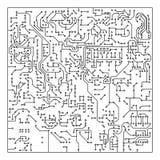 Electronic circuit board design Stock Illustration