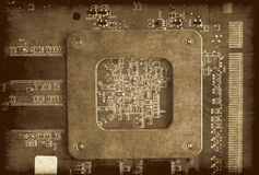 Electronic circuit board grunge background Royalty Free Stock Images