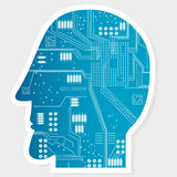 Electronic Circuit Board at Head Royalty Free Stock Photos