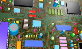 Electronic circuit board. An illustration of an electronic circuit board Royalty Free Illustration