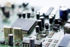 Electronic circuit board, macro Stock Photo