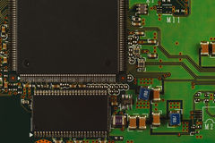 Electronic circuit board from modern device close up. Stock Image