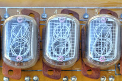 Electronic circuit board with old style indicator tubes Stock Photos