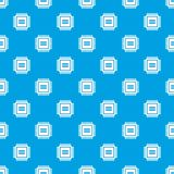 Electronic circuit board pattern seamless blue Stock Photography